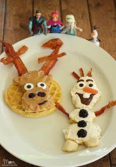 Disney's FROZEN Fun Food: Olaf & Sven Waffles
