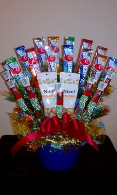 Candy Bouquet Amp Gift Baskets On Pinterest Candy Bouquet