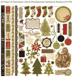 Simple Stories  Christmas Sticker Sheet