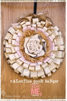 Hybrid Valentine Wreath Tutorial #DIY