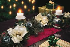 DIY Yuletide Christmas Table Accents