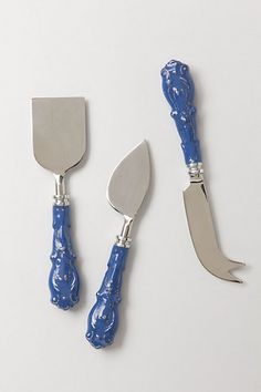 Sculpted Magnolia Cheese Knife Set