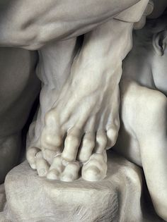 I love the emotion and tension. The tension is almost visceral, and the hard marble makes it almost more painful.