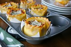 Lasagna Cups... these look good!