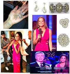 Brooke Burke wearing multiple pieces from L' Dezen Jewelry on Dancing with the Stars!
