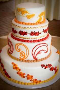This wedding cake was inspired by fall colors>> http://my.gactv.com/great-american-weddings/multigallery.esi?soc=pinterest