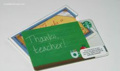 Teacher Appreciation: FREE Printable Thanks a Latte Gift Card Holder