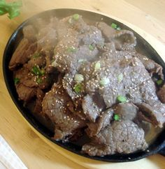 """Amazing Korean bbq (bulgogi) that I grew up on. To """"Dukanize"""" it, simply omit the honey, and use artificial sweetener instead of sugar. Perfect for a PP day."""