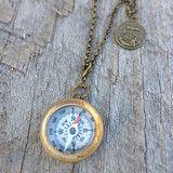 Compass & Secret Message Necklace - Cloud+Lolly