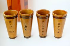 Engraved Wooden Shot Glasses from #Etsy
