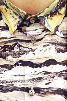Carven AW13 - beautiful mountain textile  Looks a lot to me like the Liberty of London Manning print!