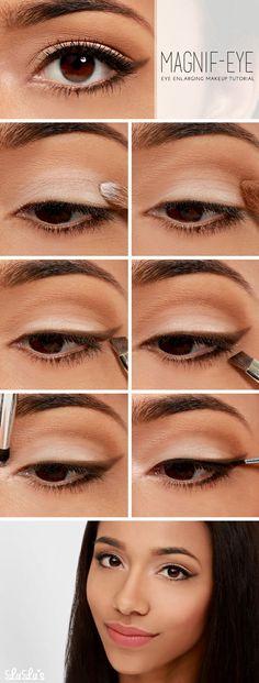Make your peepers pop with this Eye Enlarging Makeup #Tutorial