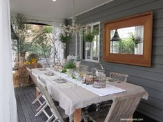 lovely covered porch dining