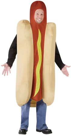 Hot Dog Costume for Adults   Hot Dog Halloween Costume  Hot Dog Costume