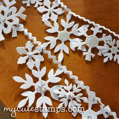 Felt Snowflake Banner Tutorial free snowflake download pattern