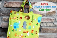 Kids Crayon and Coloring Book Carrier by CrazyLittleProjects.com
