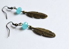 Bohemian Feather Earrings Native American Inspired by LOVEnLAVISH,