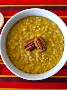 pumpkin spice oatmeal in the crock pot