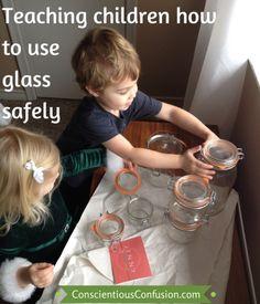 teach children, natur parent, glass containers