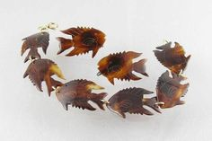 40s genuine tortoise shell fish links by theCollectedCollage, $225.00