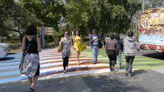 Carlos Cruz-Diez's amazing colourful crossings in Mexico