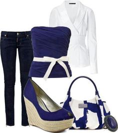 Lovely navy blue outfit, very nicd navi blue, navy blue outfits, style, cloth