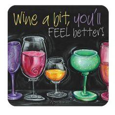 Wine A Bit Coaster