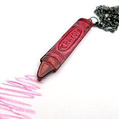 Red Crayon Necklace - Color Outside the Lines