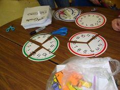 Idee met klokken en breuken