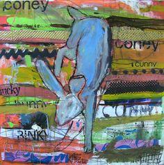 Lucky Coney 30x30 Mixed media on canvas