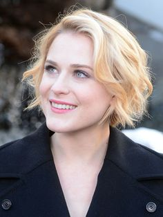 """Evan Rachel Wood - Loose waves like Wood's are simple and stylish. """"Heart-shaped faces should be cut accentuating layers around the chin while layers around the cheeks should be avoided,"""" says Perez."""