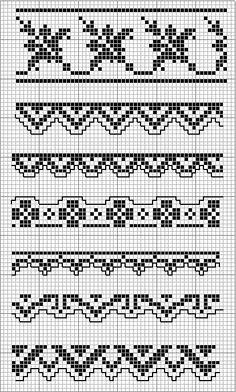 loom pattern, charts, bead, crochet, knit stitches