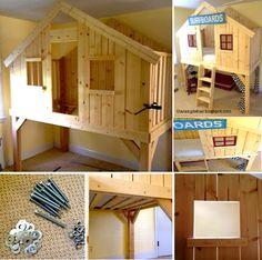 kid loft bed tutorial - Google Search