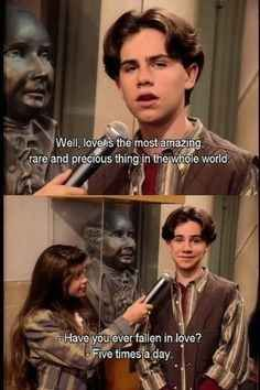 """When he expressed his true feelings on love. 