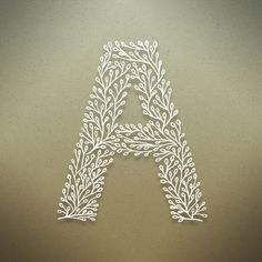 Typography: Fantastic botanical alphabet by designer Seth Mach