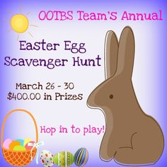 Our 5th Annual Easter Egg Scavenger hunt is on!  40 shoppes and over $400.00 in prizes...Come, play, win!  March 26th, 30th, 2012