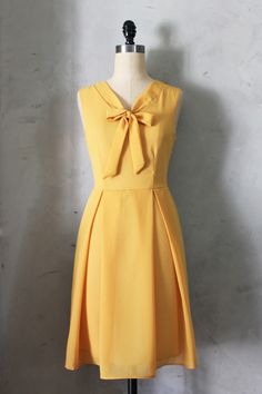 Madeline Dress in Mustard