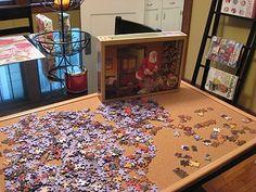 game play, games, idea, winter, jigsaw puzzl, portabl, puzzles, cork boards, corks