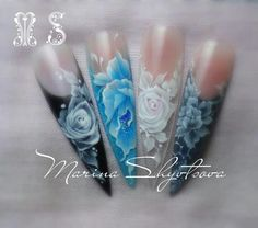 Nails 3d nail, nail magic, stiletto nail, floral nail, nail artista, stroke nail, nail design, legrand nail, coolest nail