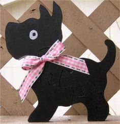 Wooden Scotty Dog Puzzle - Here's a great web site with dozens of free wooden kid's puzzle plans and other DIY woodwork projects.