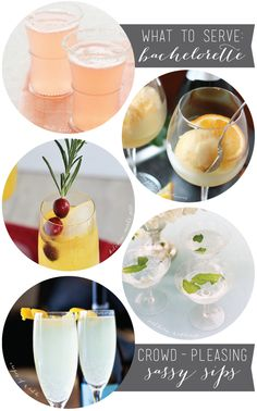 what to serve: bachelorette party drinks.