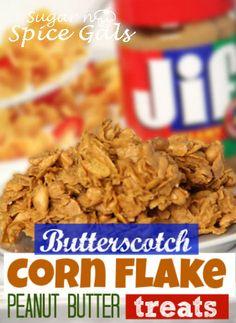 Butterscotch cornflake treats