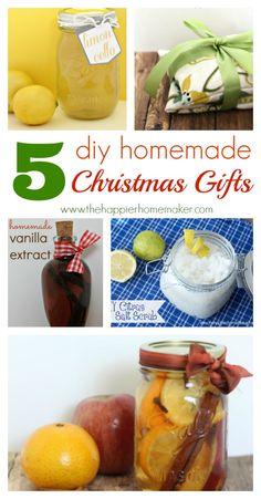 5 DIY Homemade Christmas Gifts