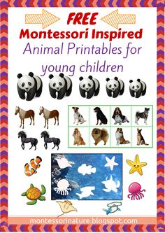 MONTESSORI INSPIRED FREE ANIMAL PRINTABLES FOR YOUNG CHILDREN | Montessori Nature Blog