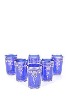 Blue Marjana Moroccan Glasses