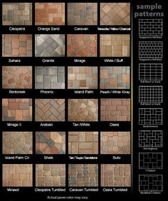 Paver Patterns for Patios