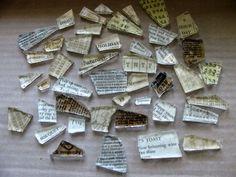 broken glass ideas, glass shard, alter art, art idea, paper, glass ornaments, mosaic, diy, broken glass crafts