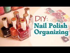 ▶ DIY: Nail Polish Organizing - YouTube
