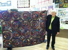Silk tie quilt Janet Raleigh