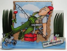fish whisper, water card, art impress, impress stamp, peopl stamp